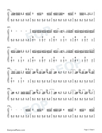 Whos Lovin You-October Numbered Musical Notation Preview 3