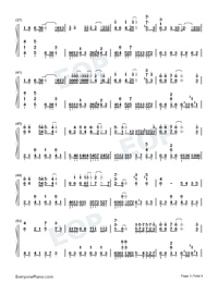Waiting Till the Flower Withered-Numbered-Musical-Notation-Preview-3