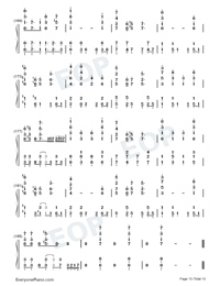 Garasu no Hanazono-Love Live OST-Numbered-Musical-Notation-Preview-10