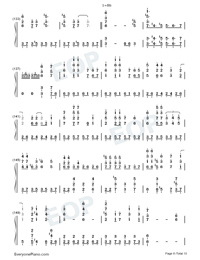 Garasu no Hanazono-Love Live OST-Numbered-Musical-Notation-Preview-8