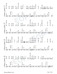 Sigh A Depressive Lone Numbered Musical Notation Preview 5