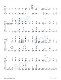 Sigh A Depressive Lone Numbered Musical Notation Preview 6