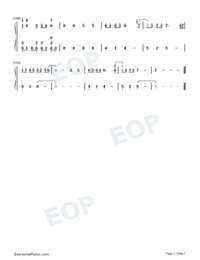 Sigh A Depressive Lone Numbered Musical Notation Preview 7