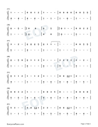 Take Me Home Country Roads-LACops-Numbered-Musical-Notation-Preview-2