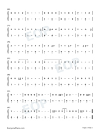 Take Me Home Country Roads-LACops-Numbered-Musical-Notation-Preview-3