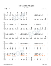 The Cuckoo-TikTok Song-Numbered-Musical-Notation-Preview-1