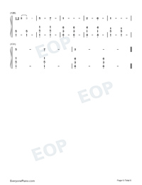 Never Worn White-Katy Perry-Numbered-Musical-Notation-Preview-6