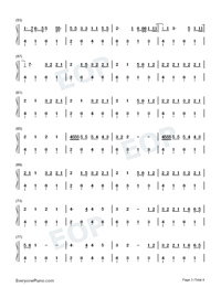Old Me-5 Seconds of Summer-Numbered-Musical-Notation-Preview-3
