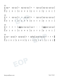 Old Me-5 Seconds of Summer-Numbered-Musical-Notation-Preview-4