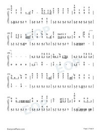 Early Sunset Clouds-Numbered-Musical-Notation-Preview-2