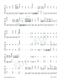 Early Sunset Clouds-Numbered-Musical-Notation-Preview-3