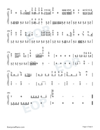 Early Sunset Clouds-Numbered-Musical-Notation-Preview-4
