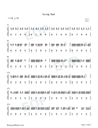 Going Bad-Meek Mill ft Drake-Numbered-Musical-Notation-Preview-1