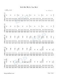 Hold Me While You Wait-Lewis Capaldi-Numbered-Musical-Notation-Preview-1