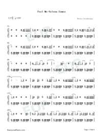 Feel Me-Selena Gomez-Numbered-Musical-Notation-Preview-1