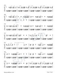 Feel Me-Selena Gomez-Numbered-Musical-Notation-Preview-2