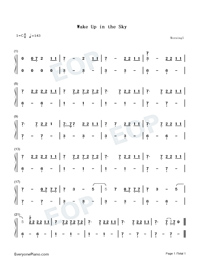 Wake Up in the Sky-Numbered-Musical-Notation-Preview-1