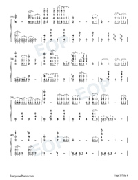 The Bygone Days-Kaerazaru hibi-Numbered-Musical-Notation-Preview-3