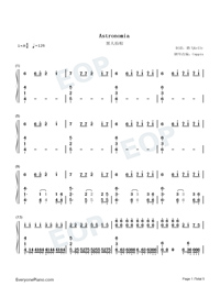 Astronomia-Coffin Dance Meme Song Numbered Musical Notation Preview 1