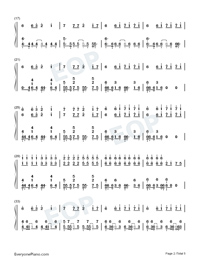 Astronomia-Coffin Dance Meme Song Numbered Musical Notation Preview 2