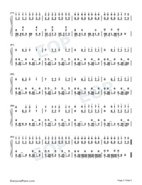Astronomia-Coffin Dance Meme Song Numbered Musical Notation Preview 5