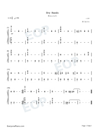 Dry Hands-Minecraft BGM-Numbered-Musical-Notation-Preview-1