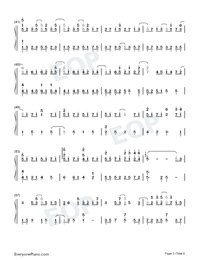 Land of Ice and Snow-Skate Into Love Theme-Numbered-Musical-Notation-Preview-3