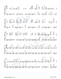 Land of Ice and Snow-Skate Into Love Theme-Numbered-Musical-Notation-Preview-4