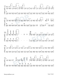 Land of Ice and Snow-Skate Into Love Theme-Numbered-Musical-Notation-Preview-5