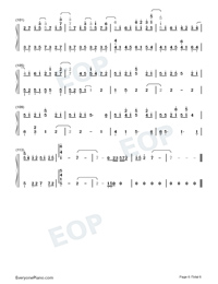 Land of Ice and Snow-Skate Into Love Theme-Numbered-Musical-Notation-Preview-6
