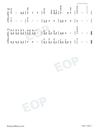 The Song for My Brother-Crash Landing On You OST-Numbered-Musical-Notation-Preview-3
