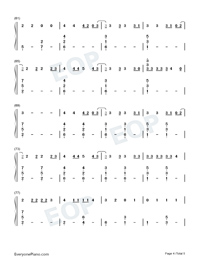 Rojo-J Balvin Numbered Musical Notation Preview 4