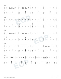 Rojo-J Balvin Numbered Musical Notation Preview 5