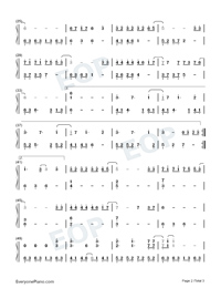 Paper Boat-Legend of Awakening ED-Numbered-Musical-Notation-Preview-2