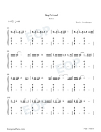 Boyfriend-Mabel-Numbered-Musical-Notation-Preview-1