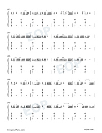 Boyfriend-Mabel-Numbered-Musical-Notation-Preview-4