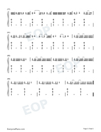 Boyfriend-Mabel-Numbered-Musical-Notation-Preview-5