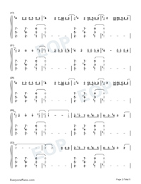 Daisies-Katy Perry Numbered Musical Notation Preview 2