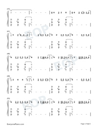 Daisies-Katy Perry Numbered Musical Notation Preview 3