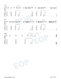 Daisies-Katy Perry Numbered Musical Notation Preview 5