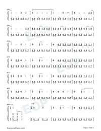 Goodbye Mr Loser-Numbered-Musical-Notation-Preview-2
