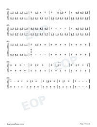Goodbye Mr Loser-Numbered-Musical-Notation-Preview-3