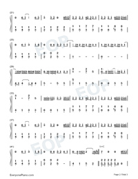 Nothing to Do with Me-Easy Version Numbered Musical Notation Preview 2