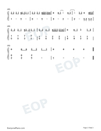 Nothing to Do with Me-Easy Version Numbered Musical Notation Preview 3