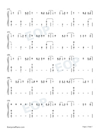 Six Feet Apart-Luke Combs-Numbered-Musical-Notation-Preview-2