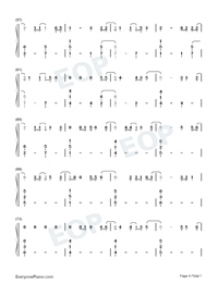 Six Feet Apart-Luke Combs-Numbered-Musical-Notation-Preview-4