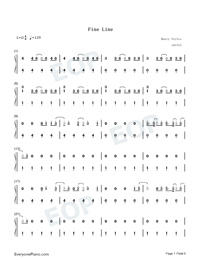 Fine Line-Harry Styles-Numbered-Musical-Notation-Preview-1