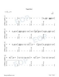 Together-Music OST-Sia-Numbered-Musical-Notation-Preview-1