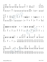 Dancing with Your Ghost-TikTok Hot Song-Numbered-Musical-Notation-Preview-2