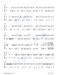 Mojito-Full Version-Numbered-Musical-Notation-Preview-2